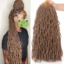 Xtrend New Faux Locks Crochet Braids 18 Inch Pre-loop Soft Curly Faux Locks Hair Extensions Most Natural Synthetic Dreadlocks Braiding Hair For Women 21Strand 27#