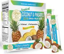 Double Joy Select Coconut and Pineapple Dried Fruit Bar - Not pureed - Just a delicious healthy snack