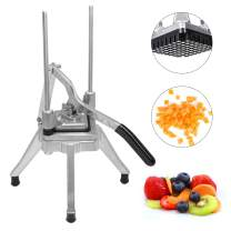 """Weanas Commercial Vegetable Fruit Dicer 3/8"""" Blade Onion Cutter Heavy Duty Stainless Steel Removable and Replaceable Kattex Chopper Tomato Slicer (3/8"""")"""