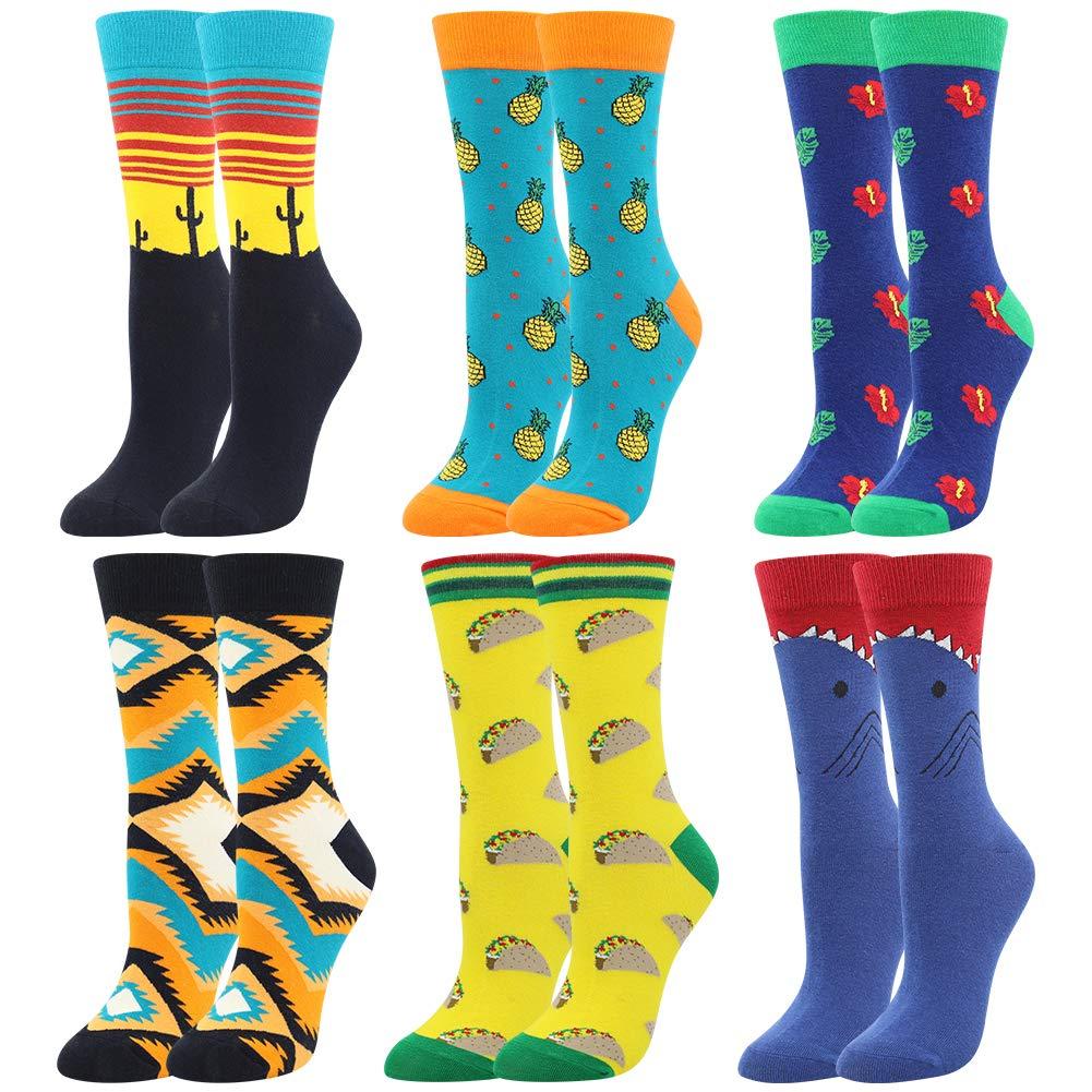 Women's Girls Novelty Funny Crew Socks,Crazy Cute Animal Food Design Socks Cotton,Girl's Gift