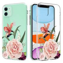 Caka Clear Case for iPhone 11 Flower Clear Case Camellia Floral Slim Flexible Premium Clarity Soft TPU Protective Anti Scratch Flower Cover Phone Case for iPhone 11 (6.1 inch)(Camellia)
