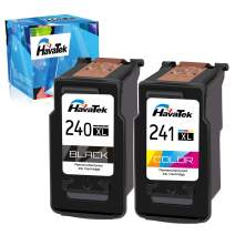HavaTek Remanufactured PG-240XL CL-241XL Ink Cartridge Replacement for Cannon Ink 240XL 241XL Use in Canon Pixma MG3620 TS5120 MG3520 MX472 MX452 MG3220 MG2120 MX432 MX532 Printer(1 Black 1 Tri-Color)