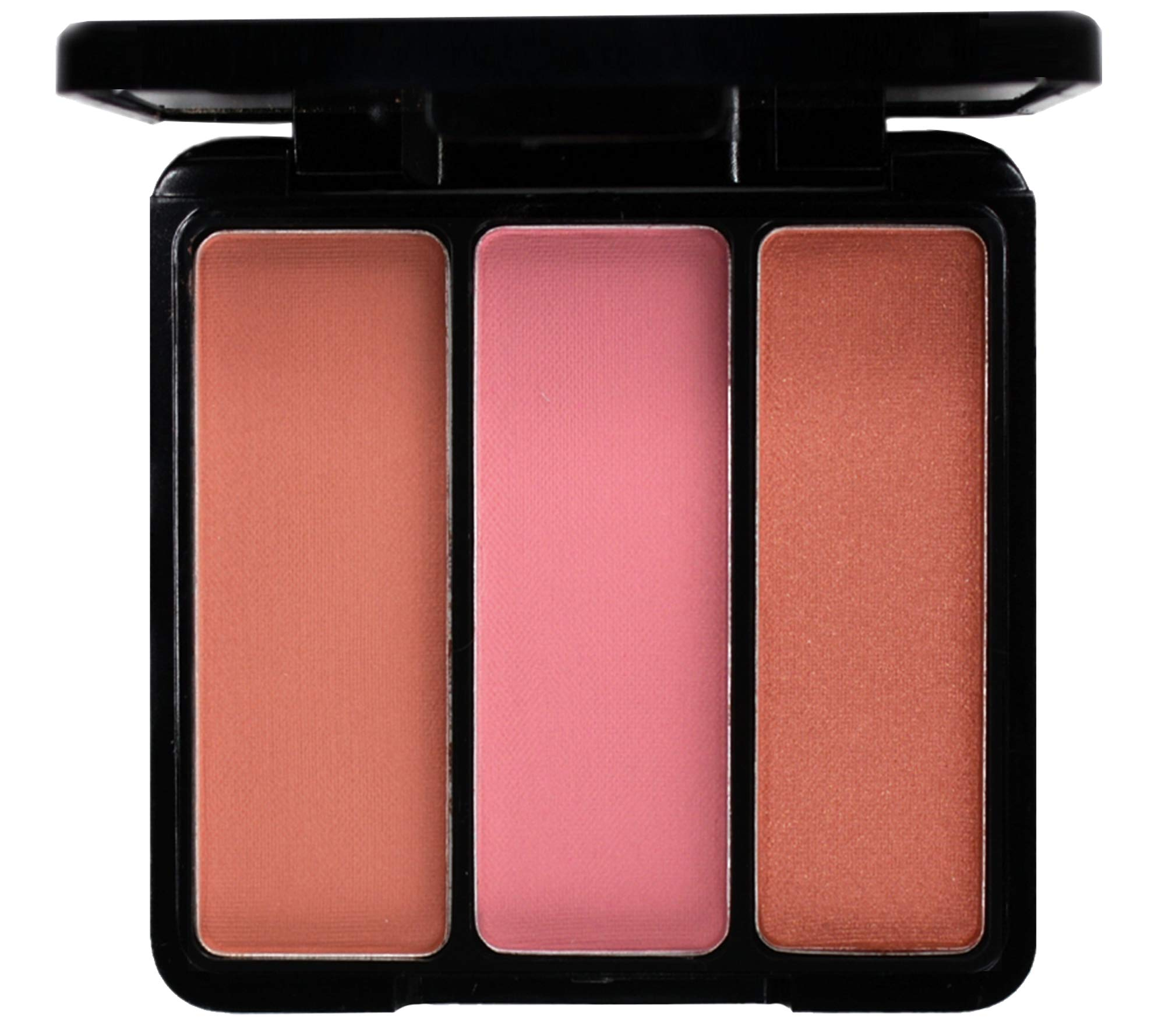 EVE PEARL Blush Trio Blush Palette Everyday Natural Looking Long Lasting Makeup Vitamin E Skincare- Sultry Cheeks