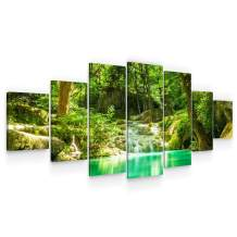 "Startonight Huge Canvas Wall Art - Beauty of The Forest - Home Decor - Dual View Surprise Artwork Modern Framed Wall Art Set of 7 Panels Total 40"" x 95"""