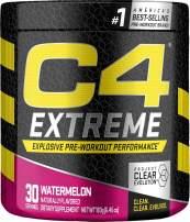 C4 Extreme Pre Workout Powder Watermelon | Sugar Free Preworkout Energy Supplement for Men & Women | 200mg Caffeine + Beta Alanine + Creatine | 30 Servings