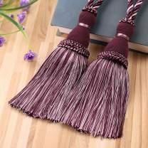 KISENG Curtain Tassel Tiebacks, Beaded Tassels Curtain Tiebacks Rope Holdbacks for Bedroom,Tassels Curtain Tiebacks,Set of 2 (Purple)