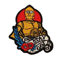 Star Wars Patch for Jacket 1 pcs Military Morale Sew On/Iron On Patches Clothes Dress DIY Accessory (C-3PO Protocol Droid)