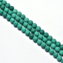 "8mm Lava Rock Natural Stone Loose Beads for Jewelry Making Spacer Beads 15""-48pcs/Strand (8mm, Green)"