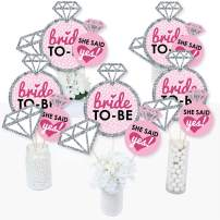 Bride-to-Be - Bridal Shower or Classy Bachelorette Party Centerpiece Sticks - Table Toppers - Set of 15