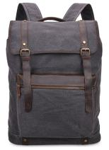 ALTOSY Vintage Canvas Backpack Casual Rucksack College Daypack Travel Bag (2200 Grey)
