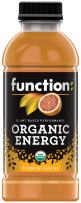 Function Organic Energy, Tropical Citrus, 16.9oz (Pack of 12)