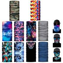 10 Pack Magic Scarf Outdoor Headwear Bandana Face Mask Scarf Neck Gaiter Dust Cover Balaclavas for Unisex Workout Yoga