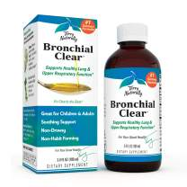 Terry Naturally Bronchial Clear Liquid - 3.4 fl oz - Soothing Lung & Upper Respiratory Function Support Supplement, Non-Drowsy, Non-Jittery - Gluten-Free - 20 Servings