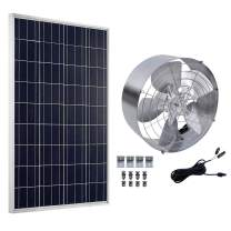 ECO-WORTHY Solar Power Attic Gable Fan - 100 Watts Polycrystalline Solar Panel Module - 65 Watts Ventilator Fan
