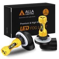 Alla Lighting 889 881 LED Fog Lights Bulbs Newest 3000lm Extreme Super Bright 898, 8K Ice Blue