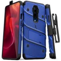 ZIZO Bolt Series OnePlus 7 Pro Case | Military-Grade Drop Protection w/Kickstand Bundle Includes Belt Clip Holster + Lanyard Blue Black