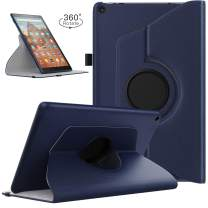 TiMOVO Case for All-New Fire HD 10 Tablet (9th Generation, 2019 Release and 7th Generation, 2017 Release) - 360 Degree Rotating Swivel Stand Cover Case for Amazon Fire HD 10 Tablet, Indigo