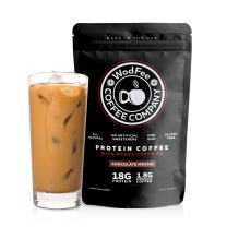 WodFee Protein Coffee | All Natural Whey Protein Coffee With 18G Of Protein Per Serving | No Artificial Sweeteners, NON GMO, KETO Friendly and Gluten Free | 18 Servings