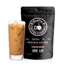 WodFee Protein Coffee   All Natural Whey Protein Coffee With 18G Of Protein Per Serving   No Artificial Sweeteners, NON GMO, KETO Friendly and Gluten Free   18 Servings