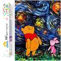 Dylan's Cabin DIY 5D Diamond Painting Kits for Adults,Full Drill Embroidery Paint with Diamond for Home Wall Decor(Winnie The Pooh/12x16inch)