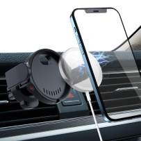 Magnetic Air Vent Car Mount for Genuine Magsafe with iPhone 12 Series, 360 Degree Rotatable Wireless Charger Cell Phone Stand Holder with Clamp Arms 【 1s Release】 for iPhone 12 Pro Max Mini