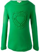 Ipuang Girls' Heart-Shaped Long Sleeve T-Shirt