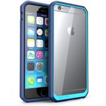 SUPCASE [Unicorn Beetle Series] Case Designed for iPhone 6S Plus Also Fit Apple iPhone 6 Plus, Clear Hybrid Protective Bumper Case (Blue)
