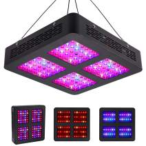 600W LED Grow Light Full Spectrum Plant Lamp for Indoor Plants Hydroponics Greenhouse, Plant Grow Light with Veg and Bloom Button (2 Switches, 3 Modes, 12-Bands)
