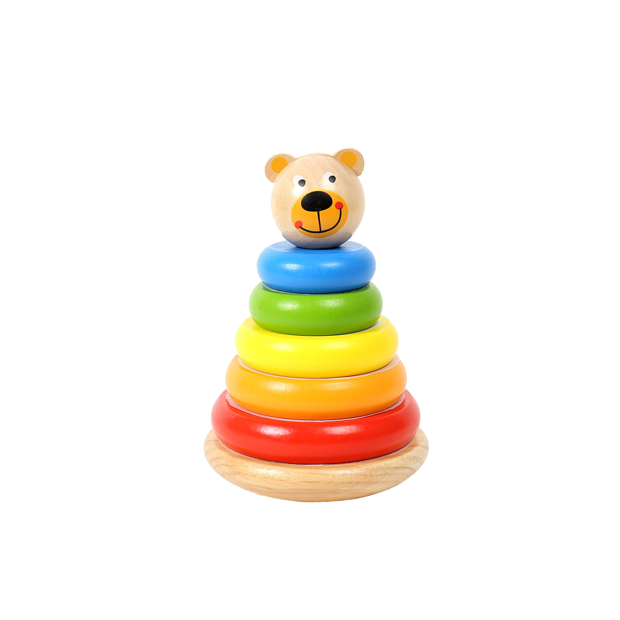Tooky Toy, 9.84 x 7.48 inches, Bear Stacker, Wood