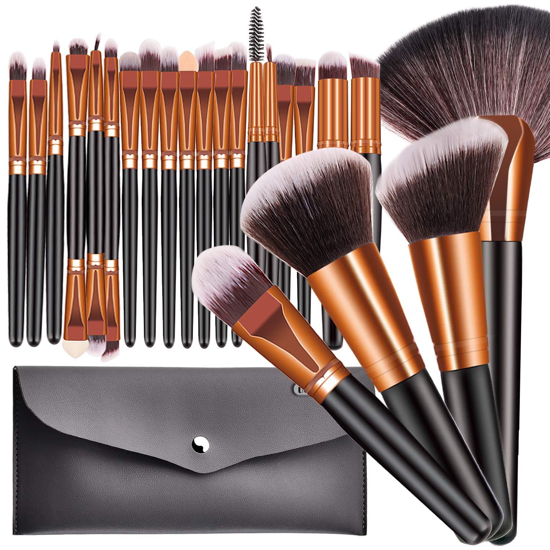 23pcs Pro Makeup Brushes Shiny
