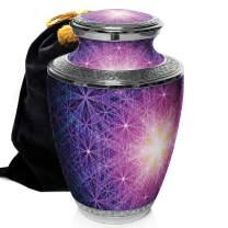 Prime Preferred Choice Seed of Life Cremation Urns for Human Ashes Adult, Urns for Ashes, Cremation Urns for Adult Ashes 200 Cubic Inches (Seed of Life, Large/Adult)