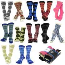 TeeHee Women's Great Value Multi Pair Crew Socks