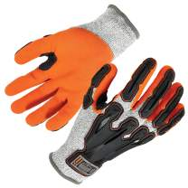 Nitrile Dipped Work Gloves, Cut Resistant, Cut Level A3, Back Hand Impact Protection, Ergodyne ProFlex 922CR