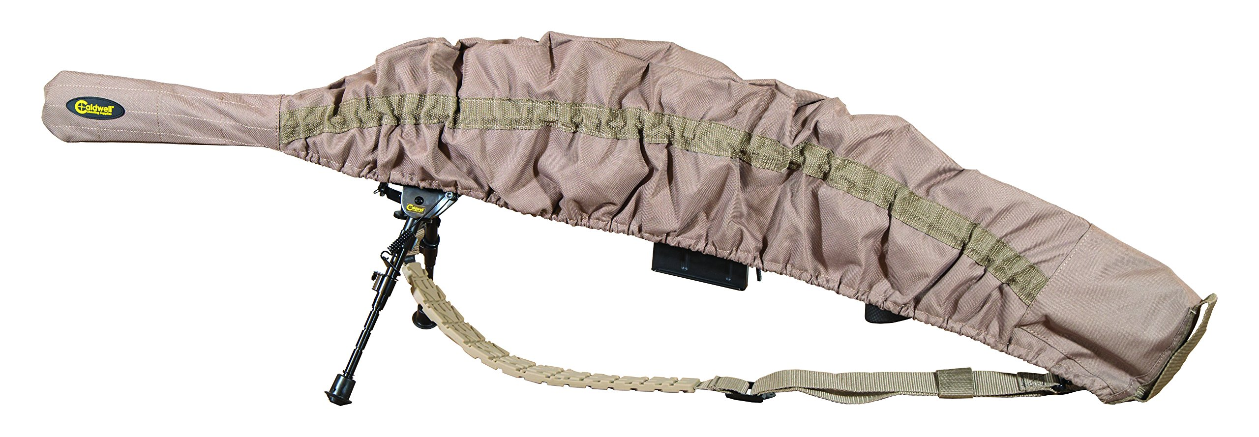 Caldwell Allweather Fast Case Gun Cover with FDE Color, PVC Lined Fabric, Water Resistance and Quick Access Design for Outdoor, Range, Shooting and Hunting