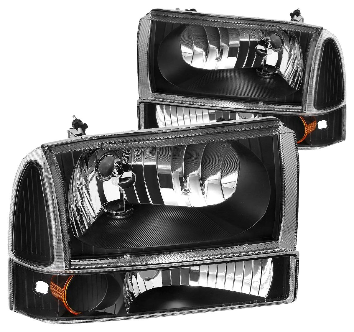 DNA MOTORING HL-OH-F99SD4P-BK-AM Headlight Assembly, Driver and Passenger Side