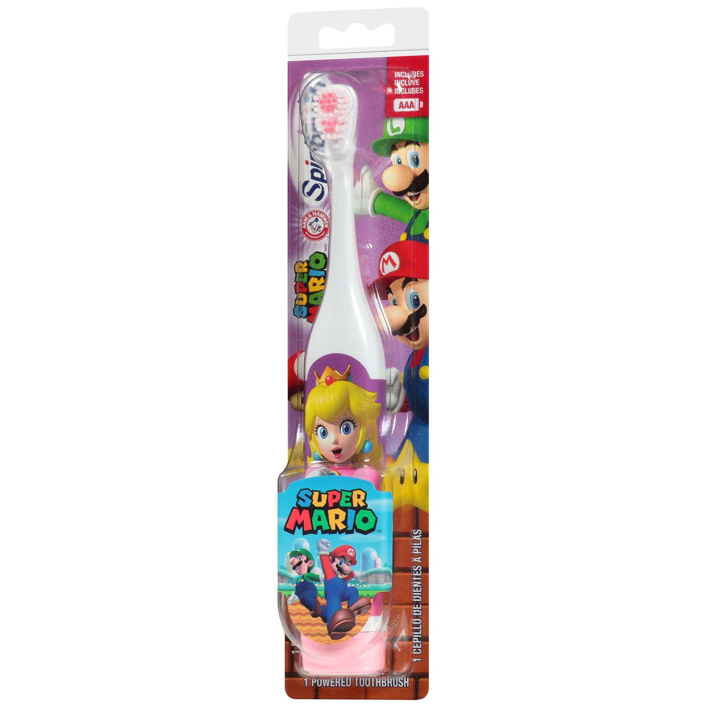 ARM & HAMMER Kid's Spinbrush Powered Toothbrush, Super Mario 1 ea (Pack of 3)