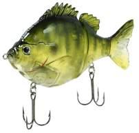 """FishLab BGG-4-GB Bio Gill Glide Bait Slow Sink Ghost Bluegill 4"""" 1 oz"""