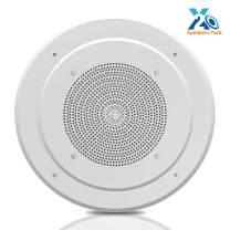 """8"""" Ceiling Wall Mount Speaker - Full Range Woofer Speaker System 100 Volt Transformer Flush Design w/ 60Hz-16kHz Frequency Response 200 Watts Peak & Template for Easy Installation - Pyle PDICS8"""