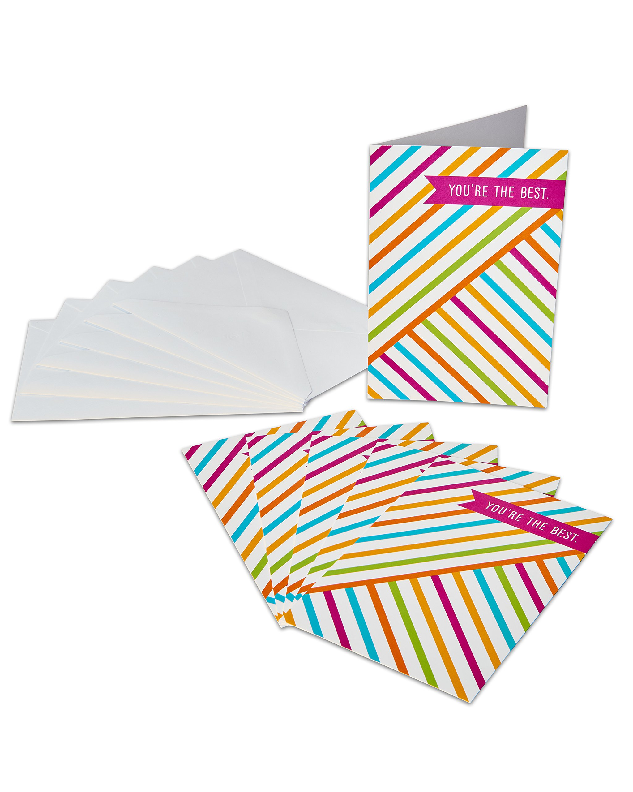 American Greetings Thank You Card, You're The Best (6-Count)