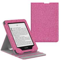 MoKo Case Fits Kindle Paperwhite (10th Generation, 2018 Releases), Premium Vertical Flip Cover with Auto Wake/Sleep Compatible for Amazon Kindle Paperwhite 2018 E-Reader - Magenta