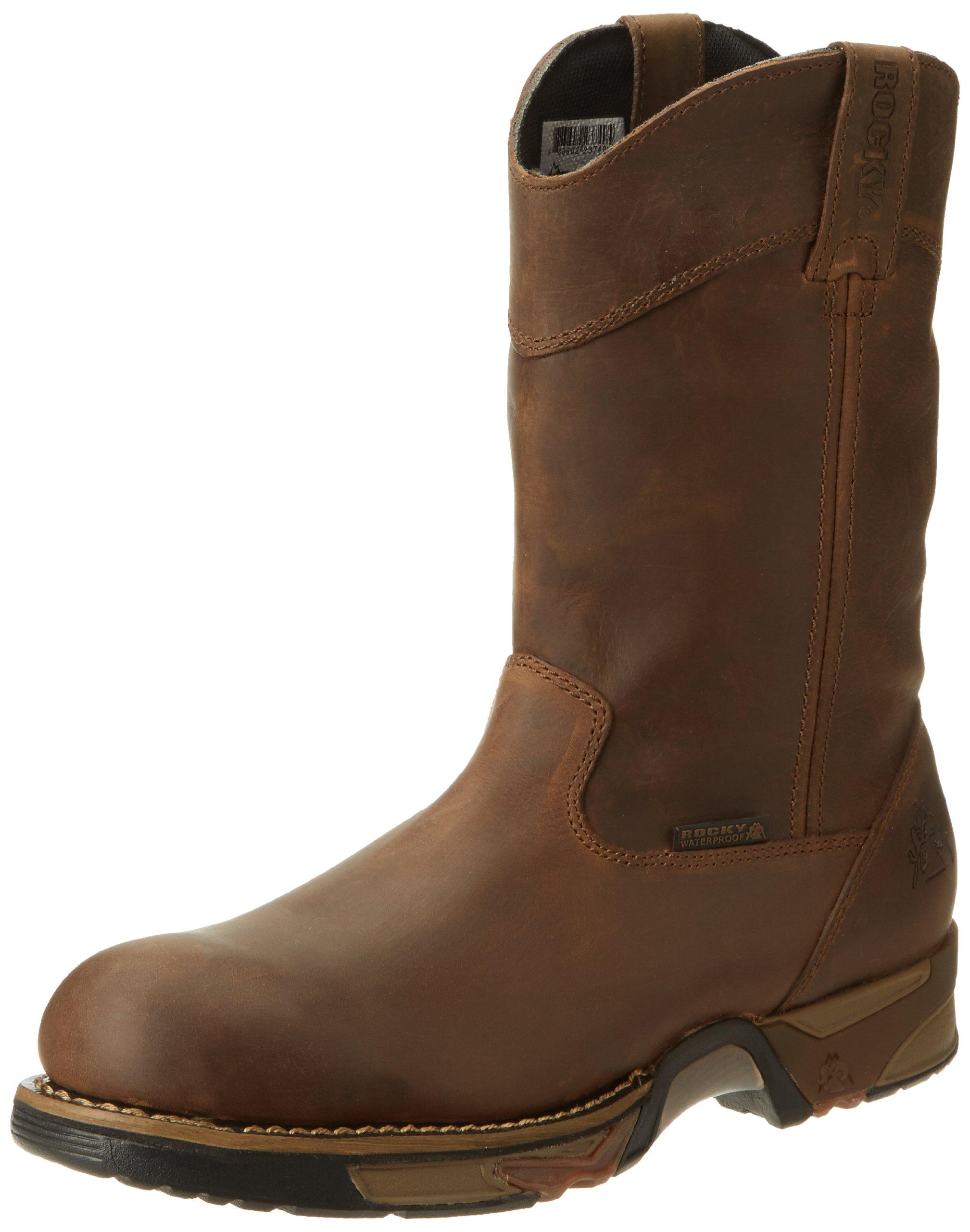 """Rocky FQ0006639 11"""" WELNGTN RWP Steel Toe Medium 8 Work Boots"""