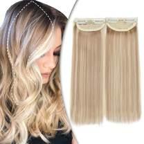 Hairro Clip On Hair Extensions Hairpin Hairpieces Hair Pad Hairpiece Natural Heat Resistance Clips In Hair Piece For Women Adding Hair Volume Cushion High Hair 2 PCS 10 Inch 56g #16P613
