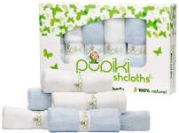"""Pupiki Baby Washcloths – Soft Baby Wash Cloths for Face & Body, Gentle on Sensitive Skin – Baby Towels with Bamboo Made from Rayon Fiber & Bonus Machine Washable Bag by Pupiki 10 x 10"""""""