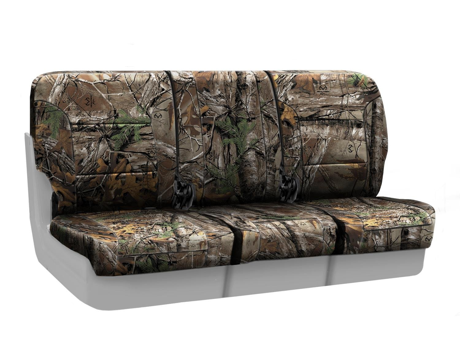 Coverking Front 40/20/40 Split Bench Custom Fit Seat Cover for Select Chevrolet Silverado 1500 Models - Neosupreme Camo Real Tree (Xtra)