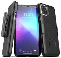 Encased iPhone 11 Pro Belt Clip Case (2019 DuraClip) Ultra Slim Cover with Holster (Black)