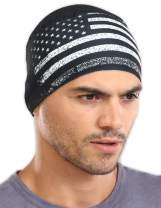 Skull Cap Helmet Liner for Men - Cooling Sweat Wicking Under Motorcycle & Hard Hat Liners - Cycling & Football Head Beanie