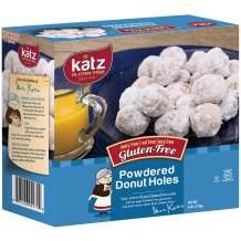Katz Gluten Free Powdered Donut Holes | Dairy Free, Nut Free, Soy Free, Gluten Free | Kosher (3 Packs, 6 Ounce Each)