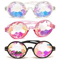 Kaleidoscope Glasses - 3 Pk - Trippy Psychedelic Rave Goggles - Funky Prism Glasses For Raves - Festival Accessories