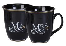Mr And Mrs Happily Ever After 16 Ounce Ceramic Stoneware Coffee Mug Set