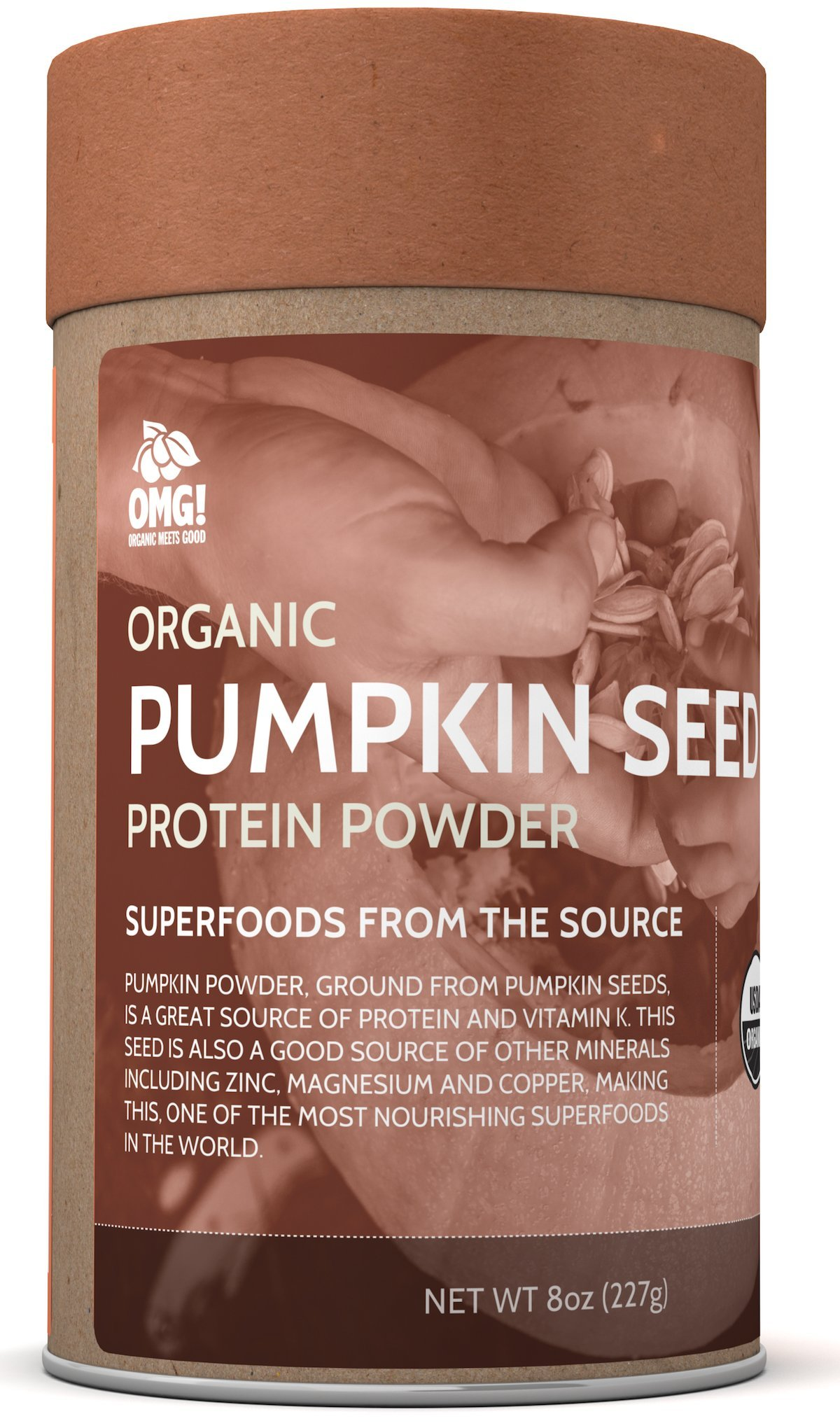 OMG! Superfoods Organic Pumpkin Seed Powder - 100% Pure, USDA Certified Organic Pumpkin Seed Powder - 8oz